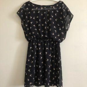 FOREVER21 Patterned Black Dress